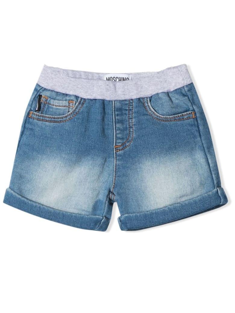 Moschino Denim-blue Cotton Shorts - Denim