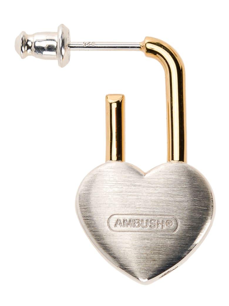 AMBUSH Heart Padlock Earring - Silver