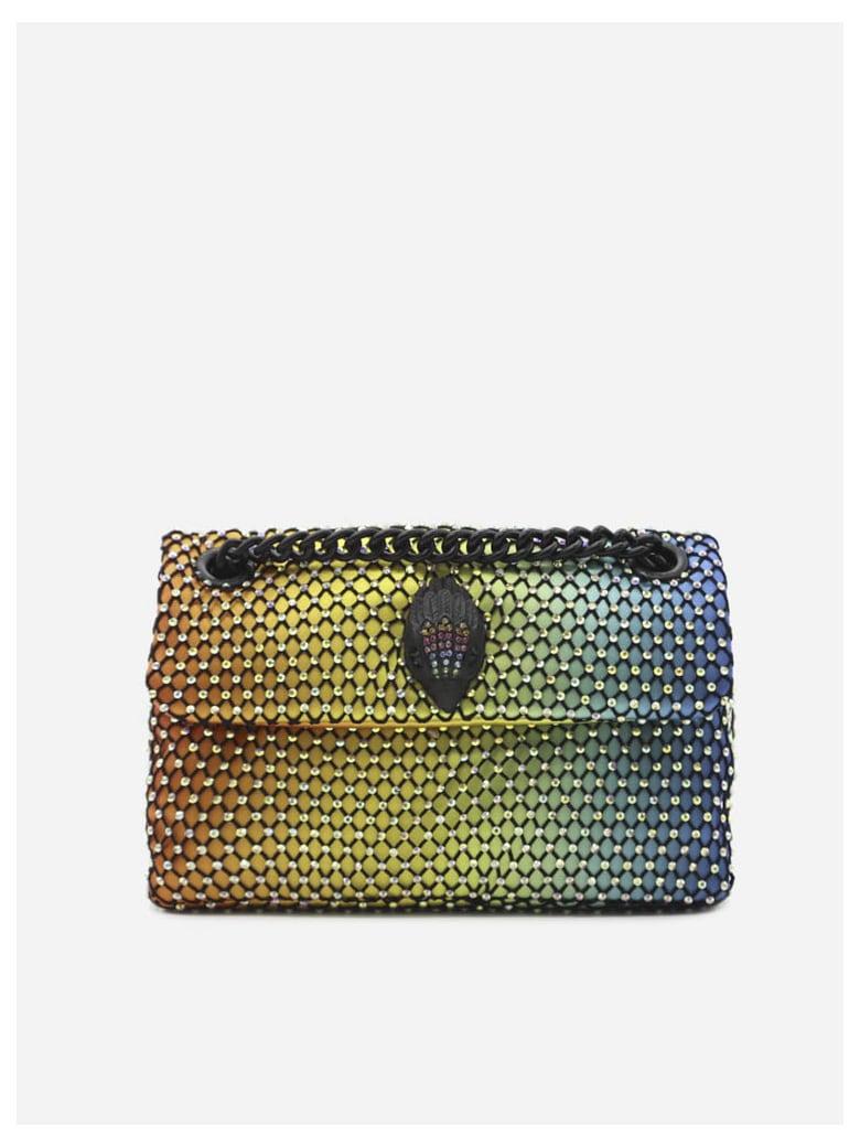 Kurt Geiger Kensington Mini Bag In Mesh And Rhinestones - Multicolor