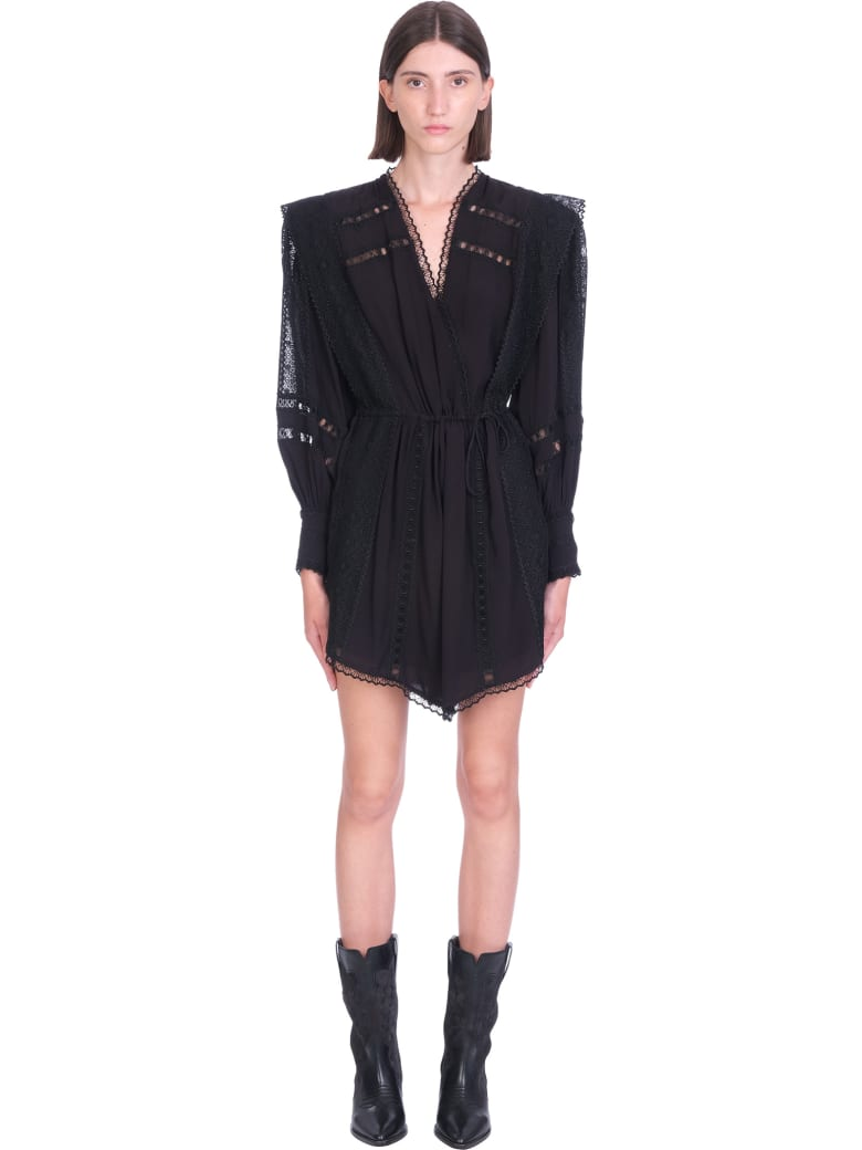 IRO Cassie Dress In Black Polyester - black