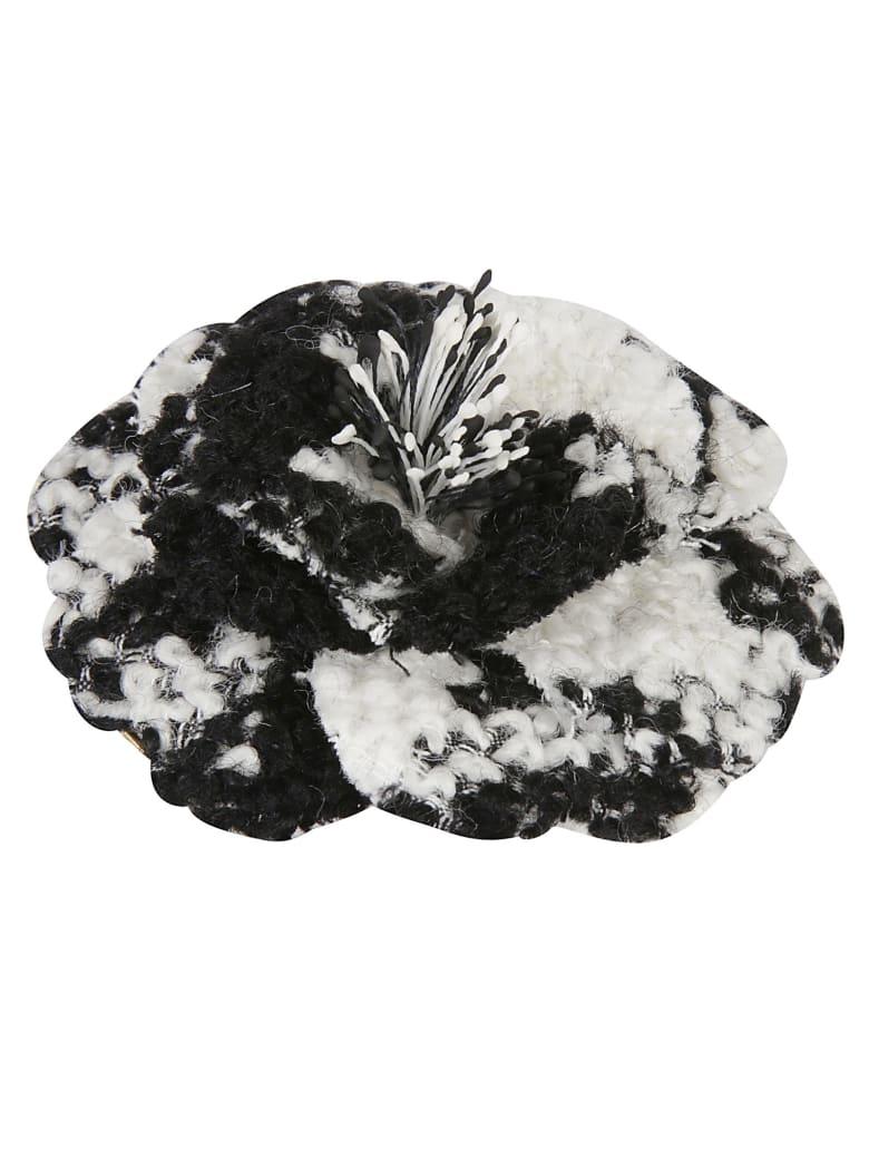 Philosophy di Lorenzo Serafini Floral Brooch - White/Black