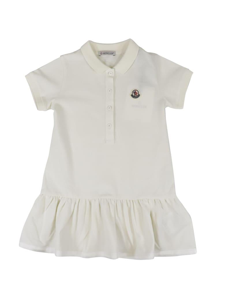 Moncler Cotton Dress - WHITE