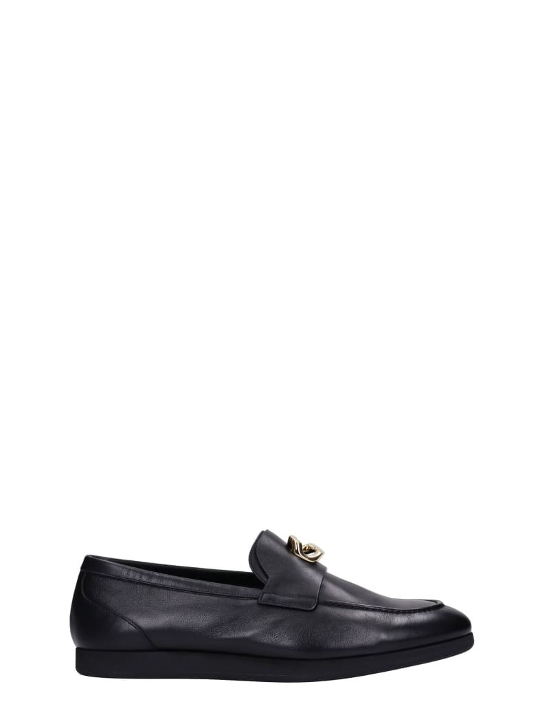 Givenchy Loafers In Black Leather - Nero