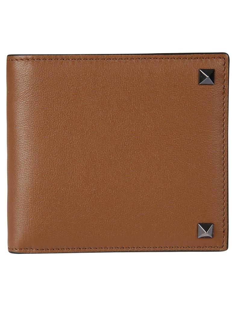Valentino Garavani Rockstud Card Holder - Brown