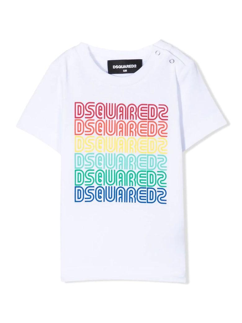 Dsquared2 White Cotton T-shirt - Bianco