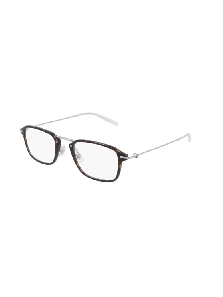 Montblanc MB0159O Eyewear - Havana Silver Transpa