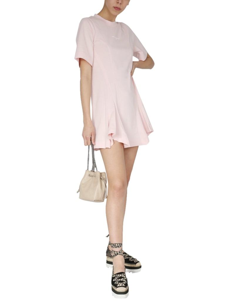 Stella McCartney T-shirt Dress With Logo Print - PINK