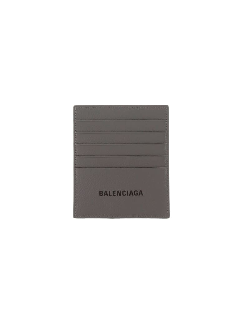 Balenciaga Card Holder - Dark grey/l black