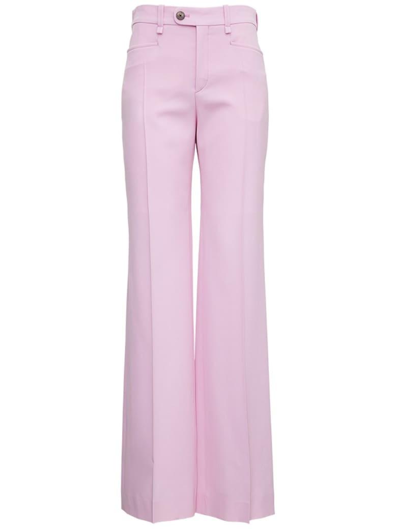 Chloé Flared  Grain De Poudre Pink Pants - Pink