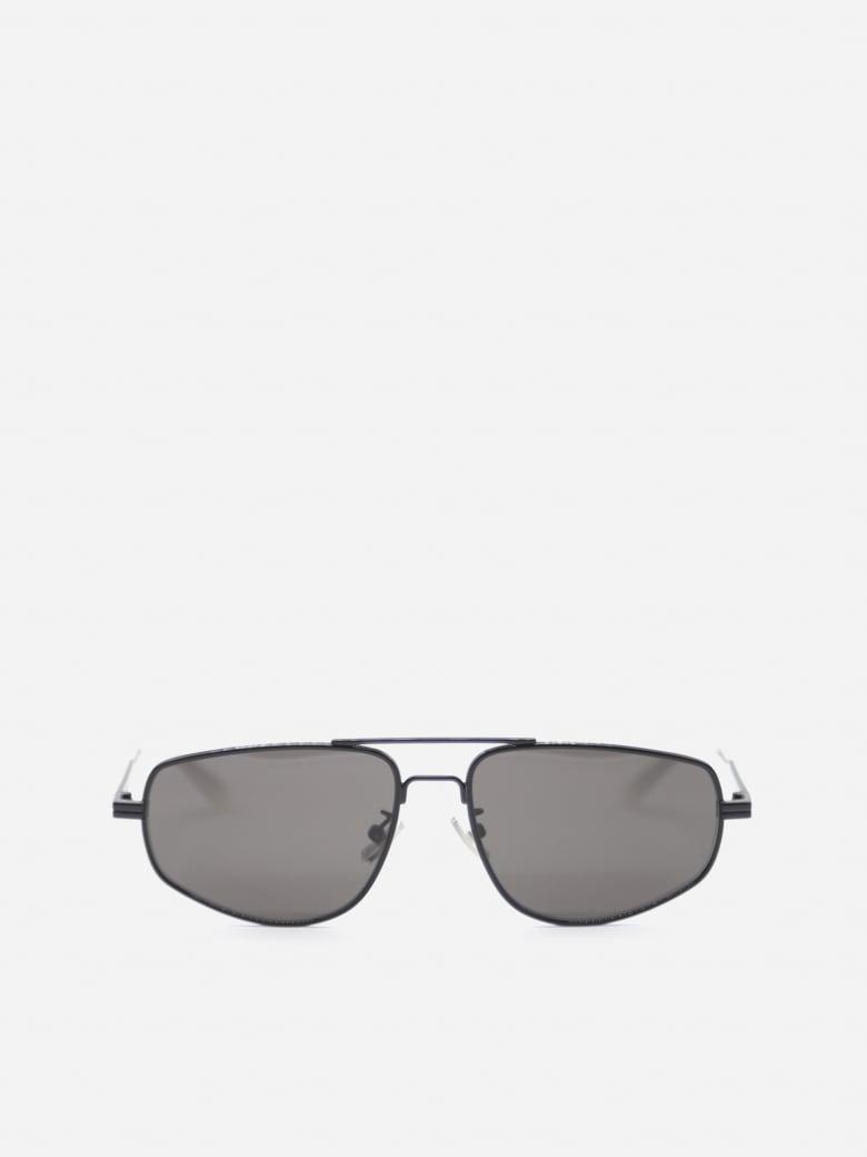 Bottega Veneta Metal Aviator Sunglasses - Black, grey