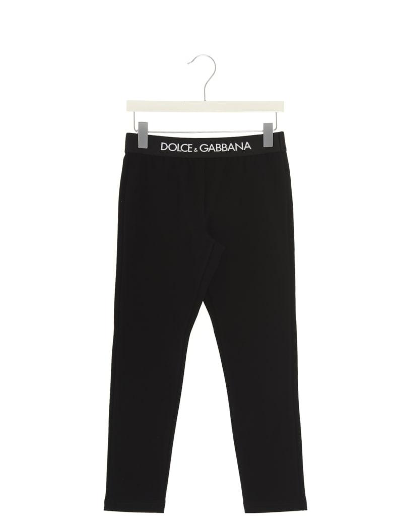 Dolce & Gabbana Logo Leggings - Black