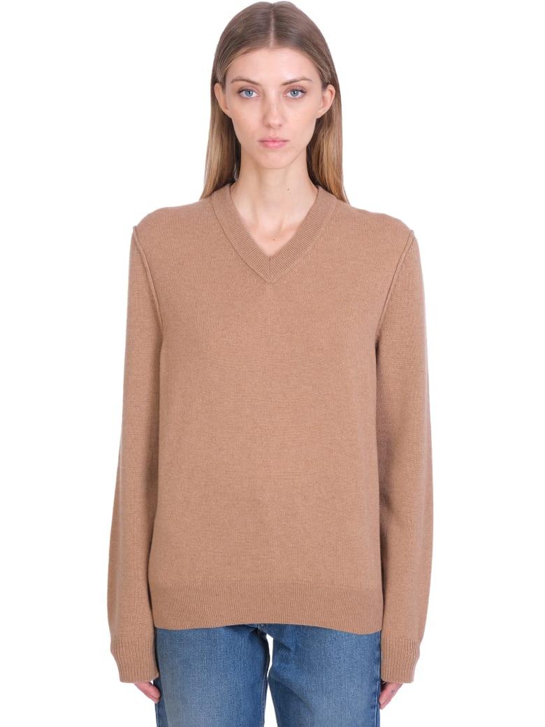 Maison Margiela Knitwear In Camel Cashmere - Camel