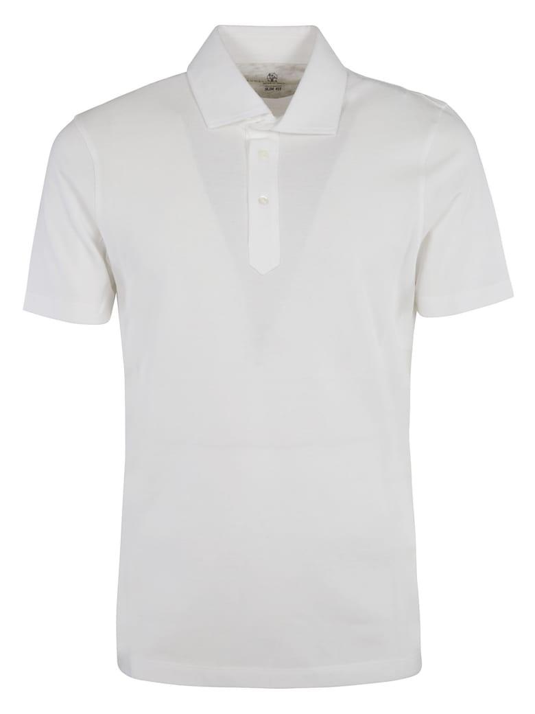 Brunello Cucinelli Classic Plain Polo Shirt - WHITE