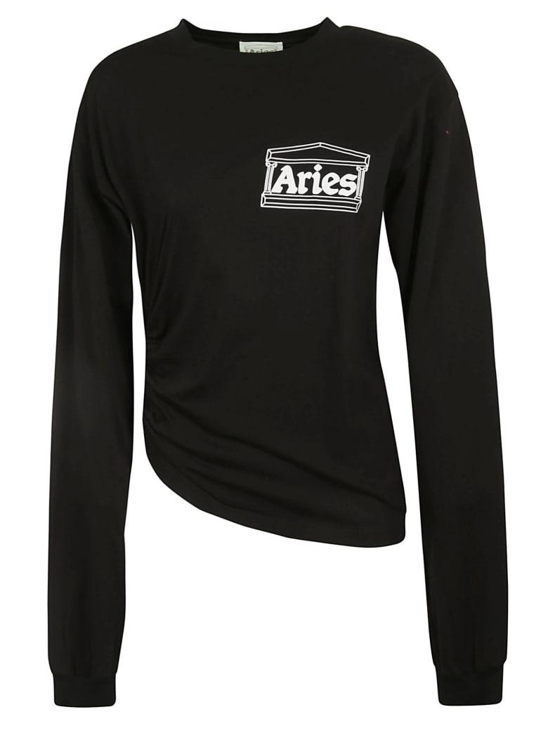 Aries Tech Hole Long-sleeved T-shirt - Black