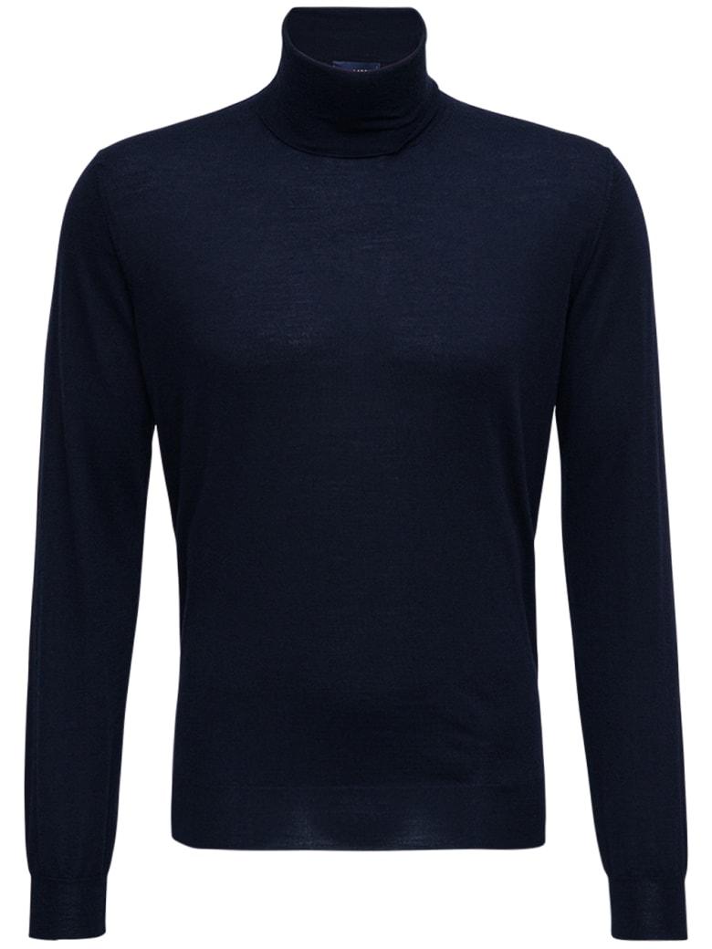 Lardini Blue Wool And Silk Sweater - Blu