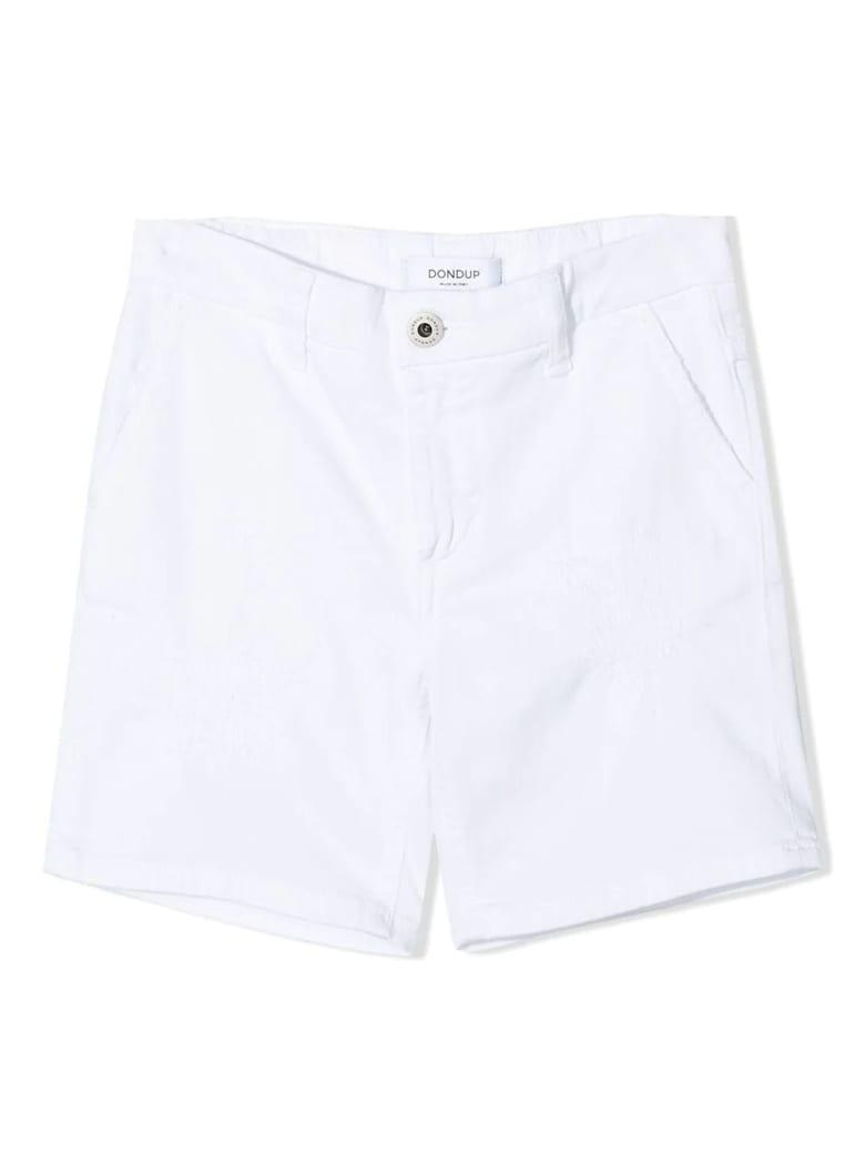 Dondup White Cotton Shorts - Bianco