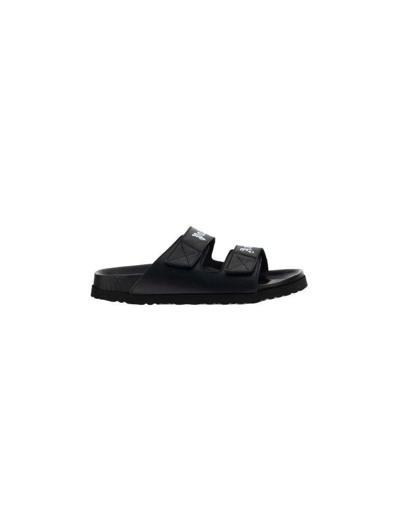 Palm Angels Sandals - Black whit