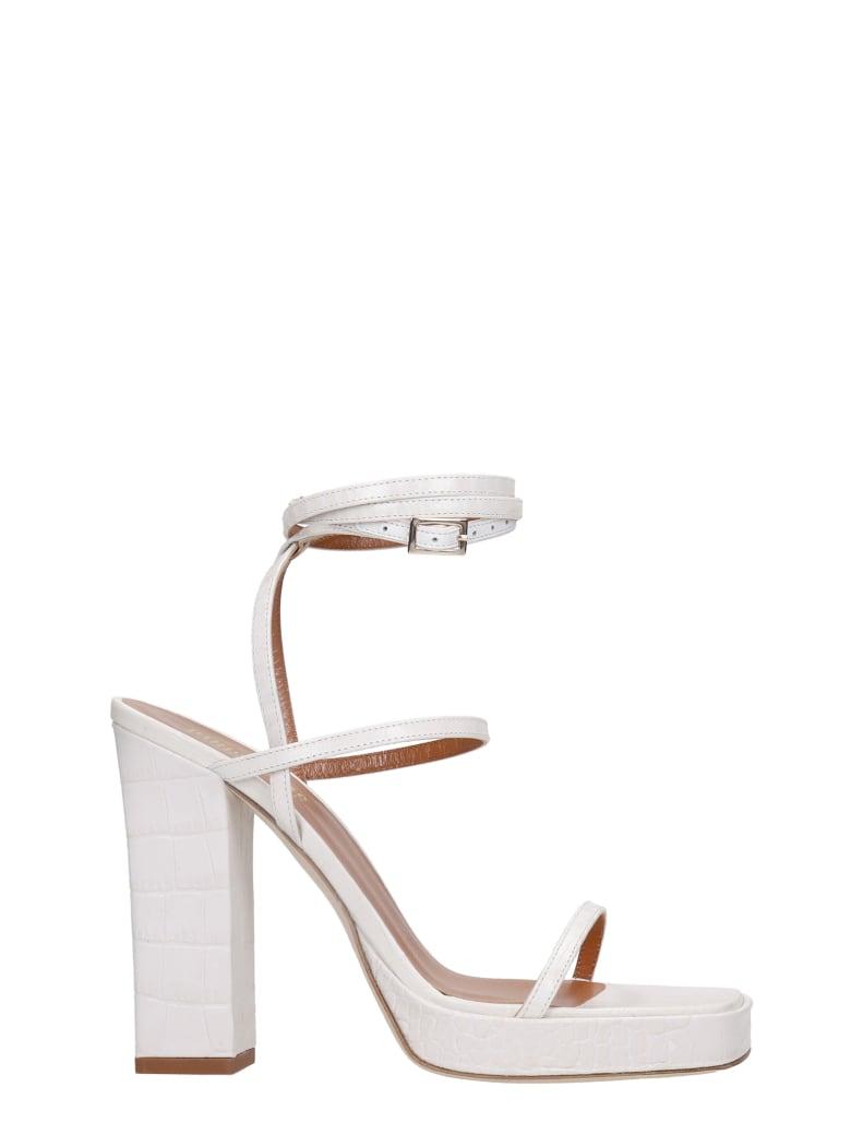 Paris Texas Bianca Sandals In White Leather - white