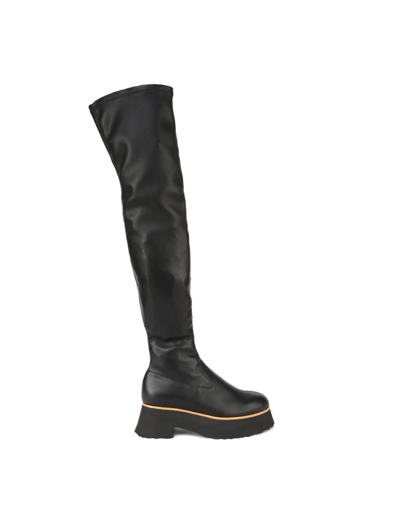 Aldo Castagna Black Cassandra Nappa Eco Stretch Boot - Black
