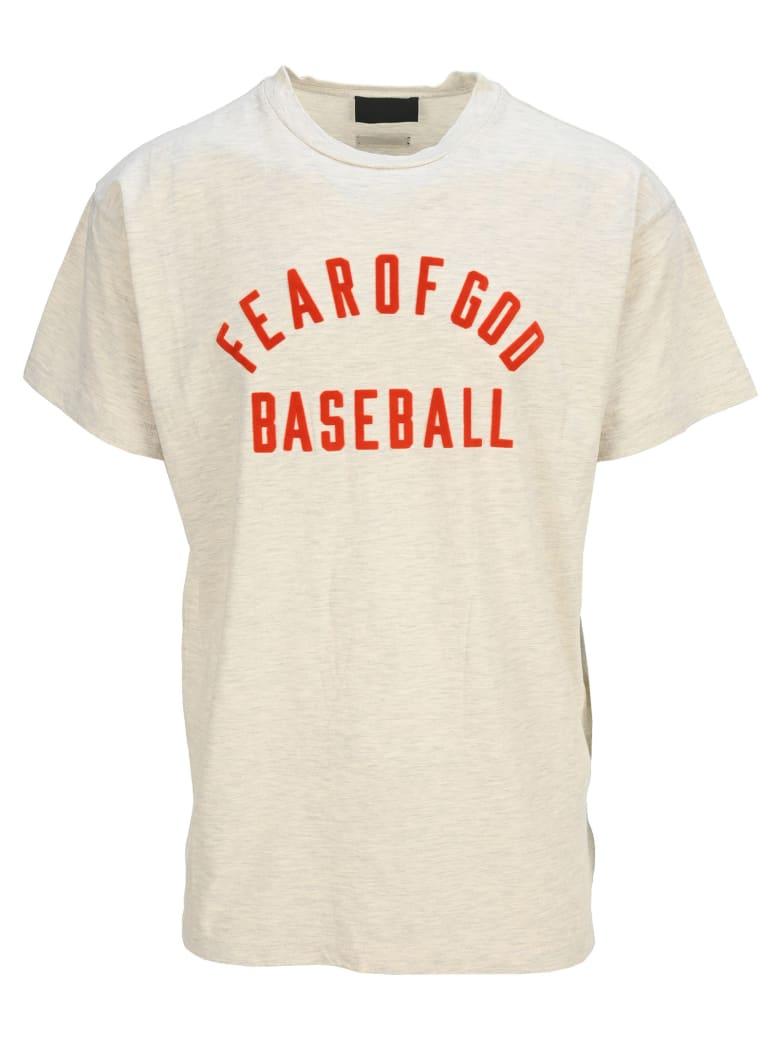 Fear of God Baseball Tee - CREAM RED