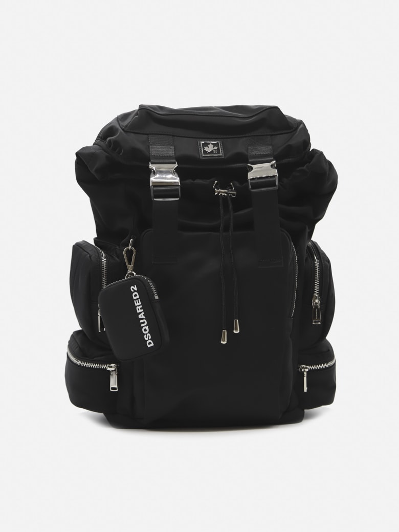 Dsquared2 Technical Fabric Backpack With Logo Patch - Black