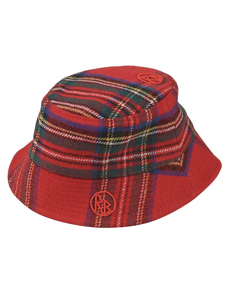 Ruslan Baginskiy Tartan Logo Bucket Hat - Red