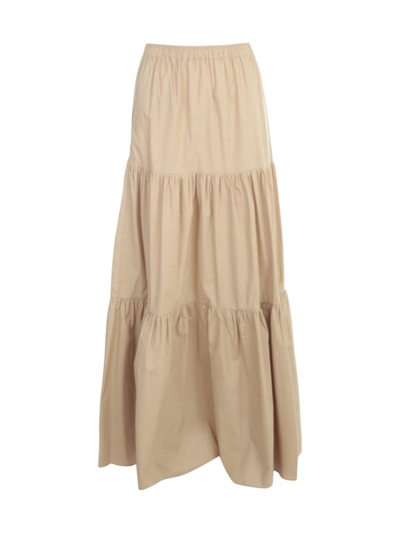 Semi-Couture. Felicie Long Skirt W/flounce - Beige