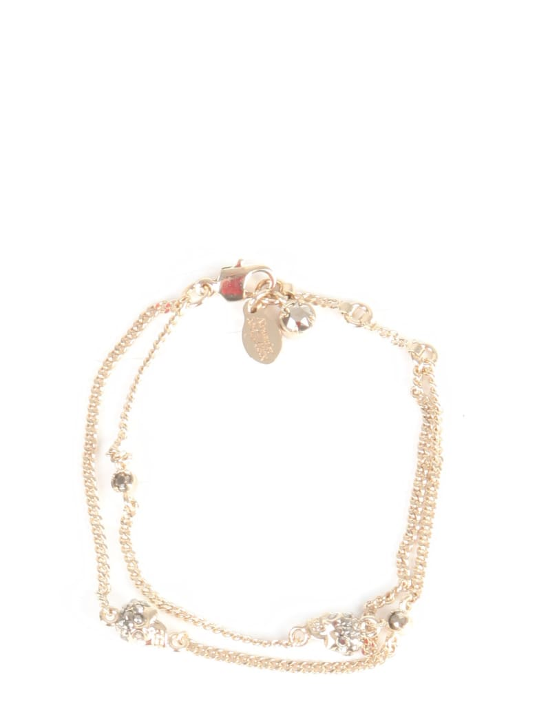 Alexander McQueen Double Chain Skull Bracelet - ORO