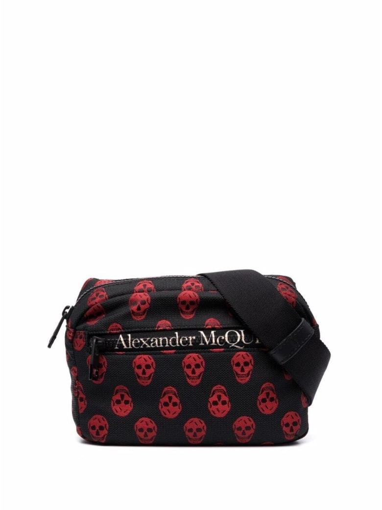 Alexander McQueen Biker Skull Urban Belt Bag In Nylon - Black