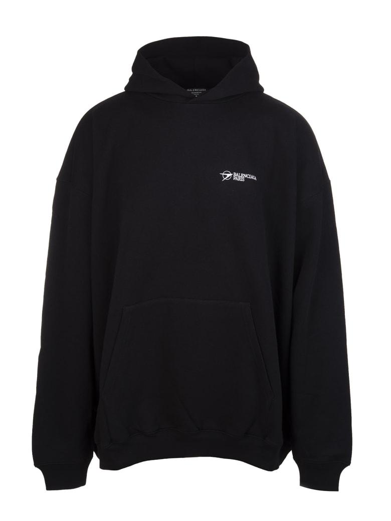 Balenciaga Unisex Black Balenciaga Corporate Hoodie - Black/white