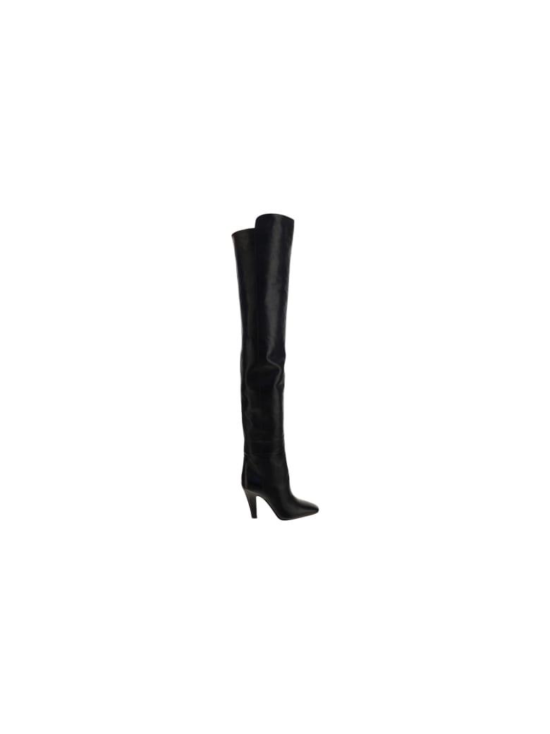 Saint Laurent Betty 95 Boots - Nero