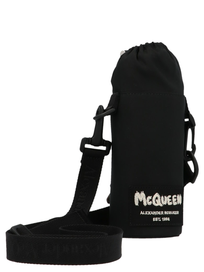 Alexander McQueen 'graffiti' Water Bottle Holder - Black