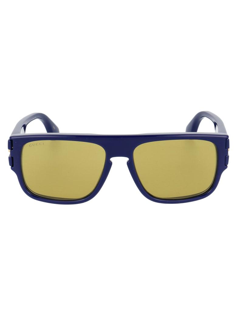 Gucci Gg0664s Sunglasses - 003 BLUE BLUE GREEN
