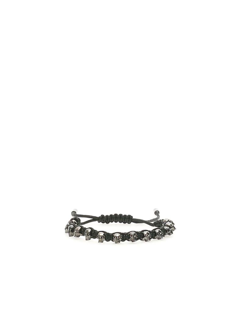 Alexander McQueen Skull Friendship Bracelet - Nero