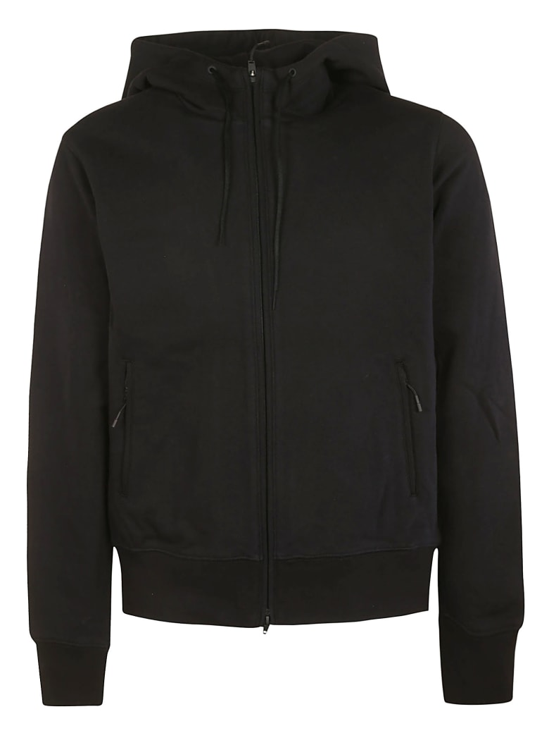 Y-3 Rear Logo Zipped Hoodie - Black