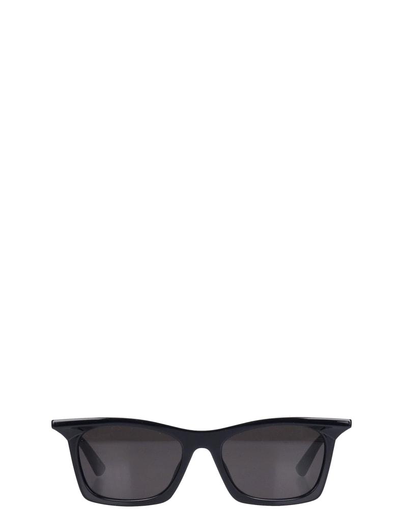 Balenciaga Tip Rectangle Sunglasses In Black Acetate - black
