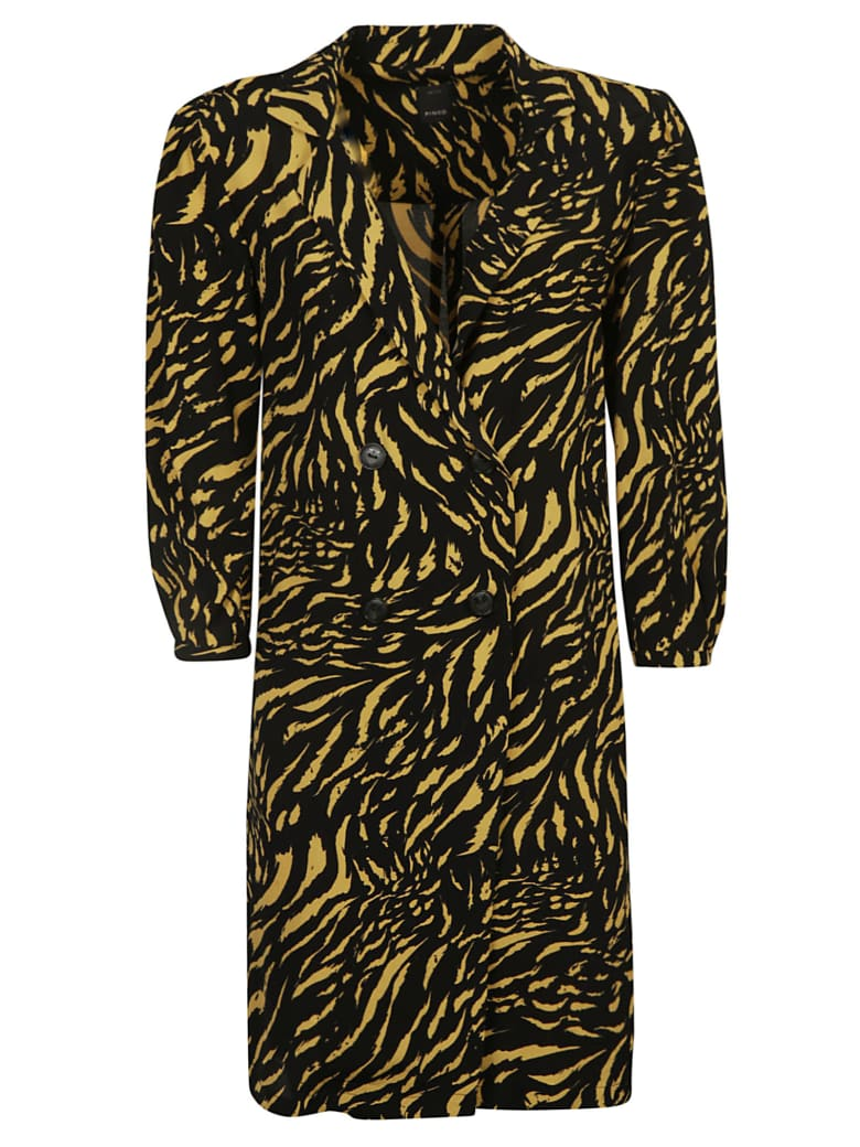 Pinko Nokota Dress - Black/Yellow