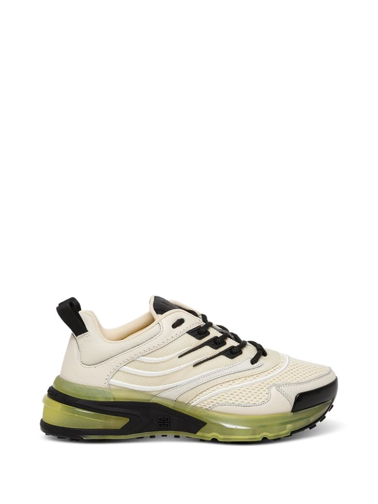 Givenchy Runner Gv1 Sneakers In Leather And Mesh - Beige