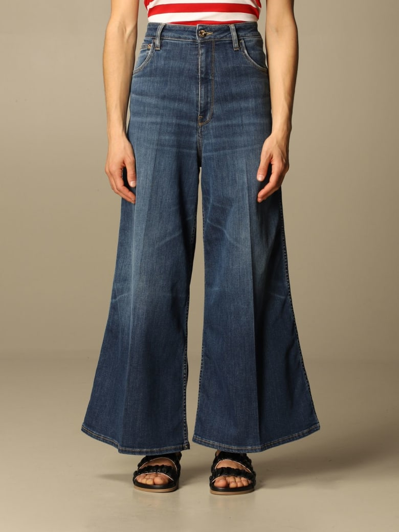 Cycle Jeans Loose Cycle Jeans In Washed Denim - Denim