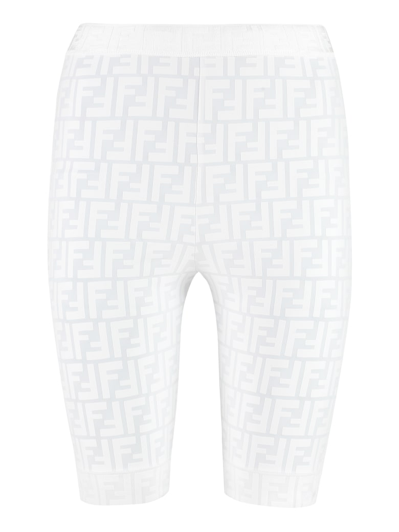 Fendi Logo Detail Shorts - White