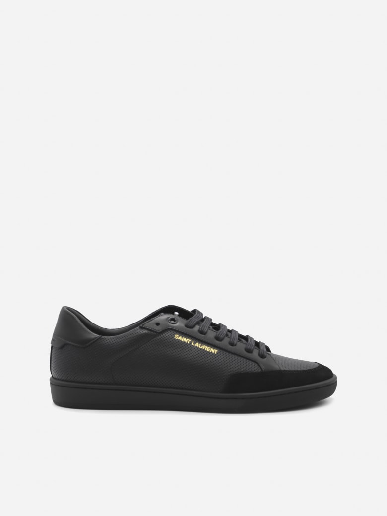 Saint Laurent Court Classic Sl / 10 Sneakers In Leather With Suede Inserts - Black