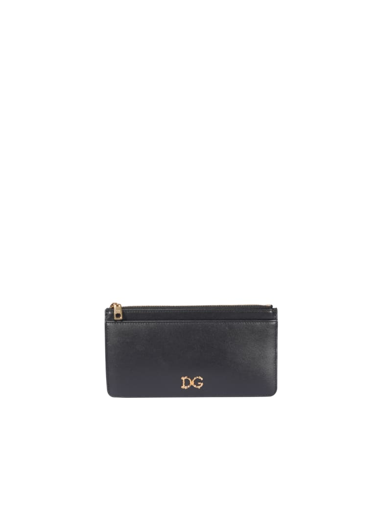 Dolce & Gabbana Zipped Cards Holder - Black