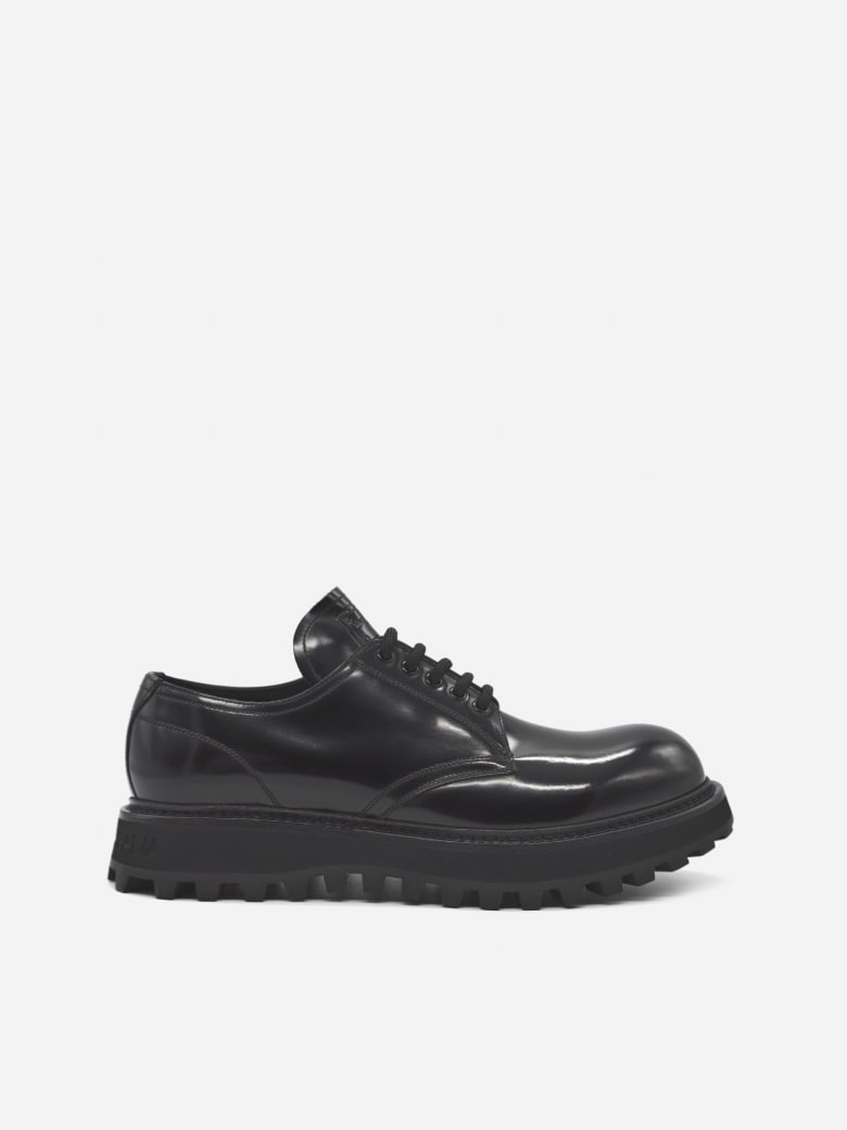 Dolce & Gabbana Derby Shoes Made Of Leather - Black