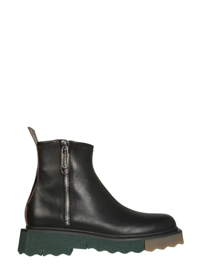 Off-White Leather Boots - Nero/nero