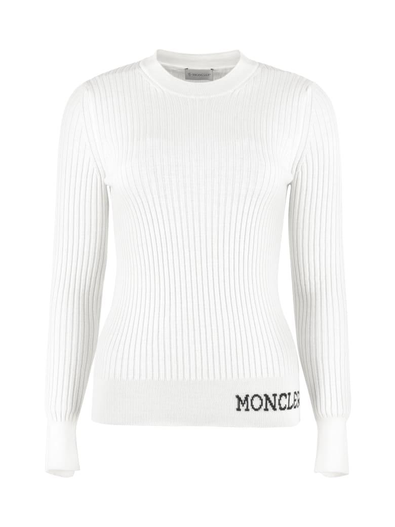 Moncler Ribbed Virgin-wool Sweater - panna