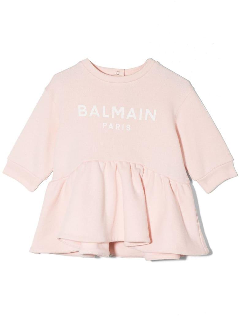 Balmain Pale Pink Cotton Dress - Rosa