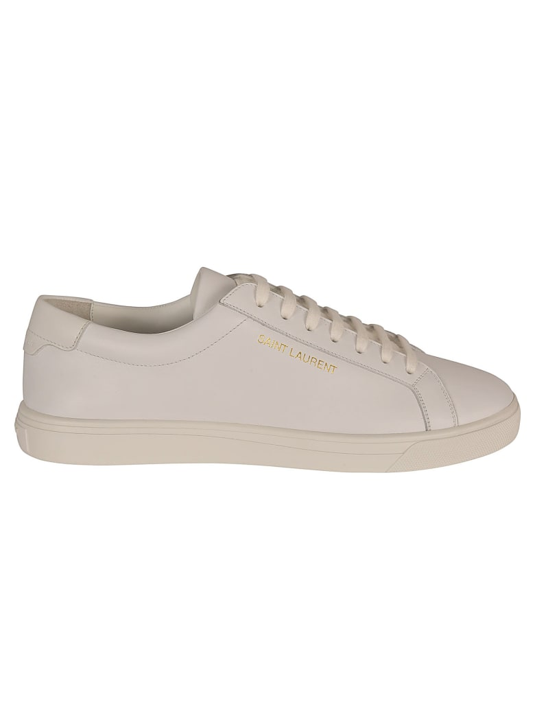 Saint Laurent Andy Low Top Sl Sneakers - Bianco