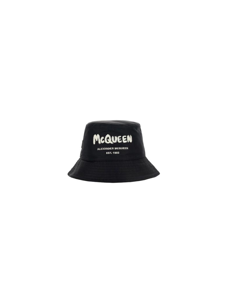 Alexander McQueen Bucket Hat - Black/ivory