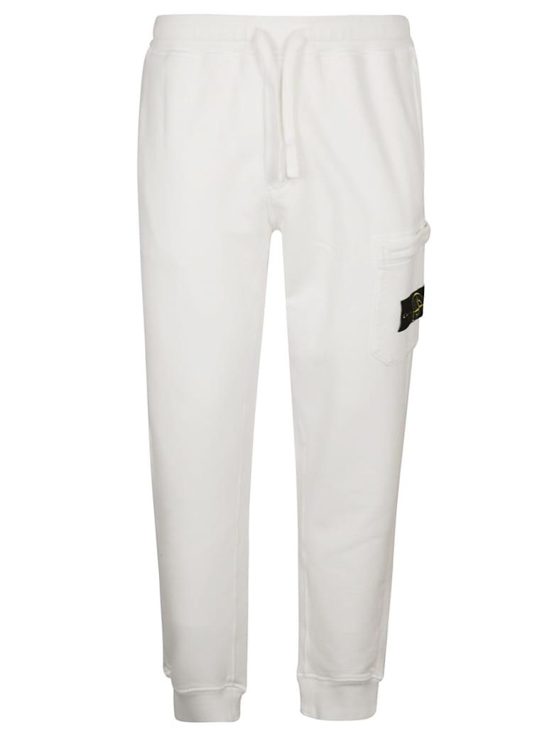 Stone Island Drawstring Track Pants - White