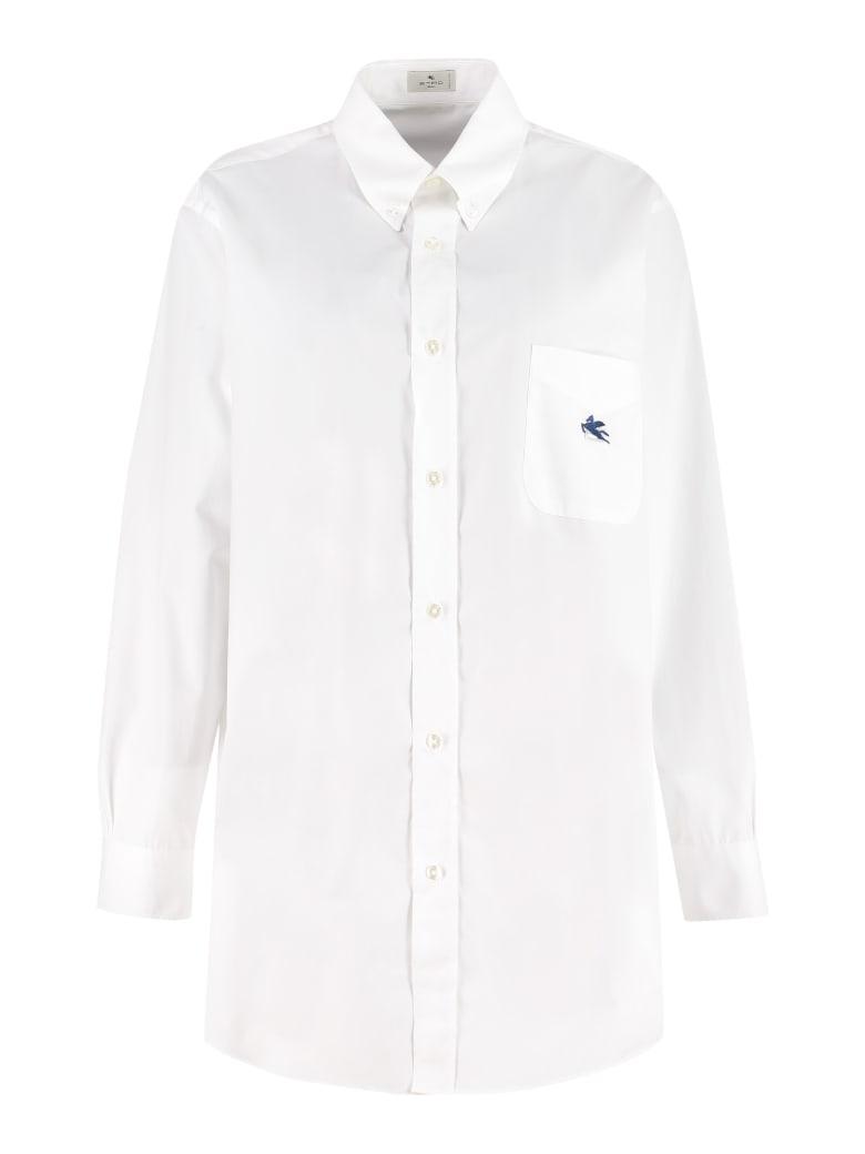 Etro Button-down Collar Cotton Shirt - White
